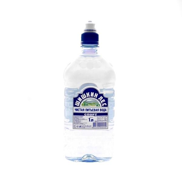 Вода питьевая Шишкин лес негазированная 1 л. Спорт