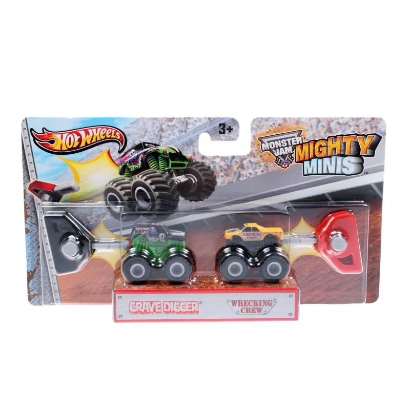 Набор машинок Hot Wheels Monster Jam Mighty Minis Wrecking Crew, Monster Mutt