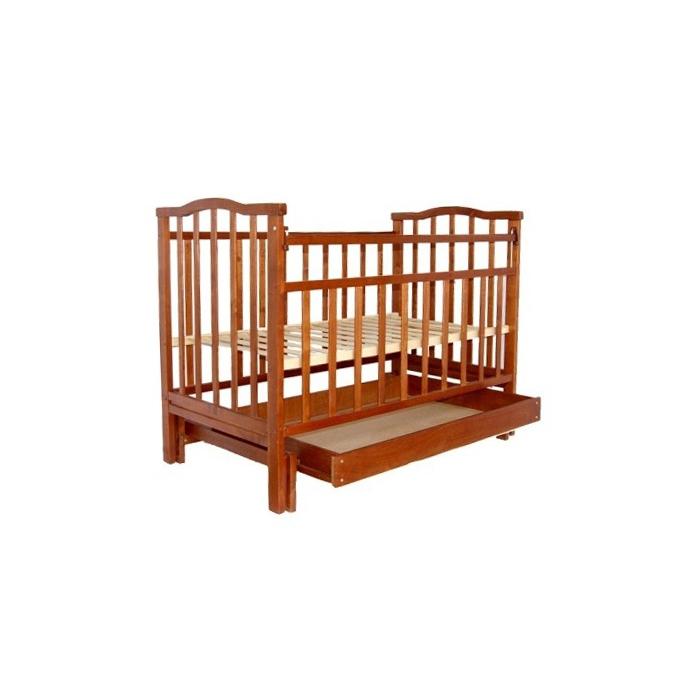 Кроватка Агат Золушка-6 продольный маятник + ящик Шоколад<br>