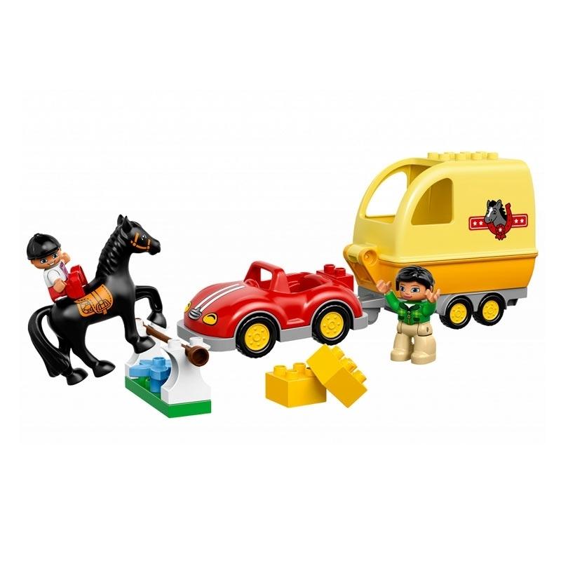 Конструктор LEGO Duplo 10807 Трейлер для лошадок<br>