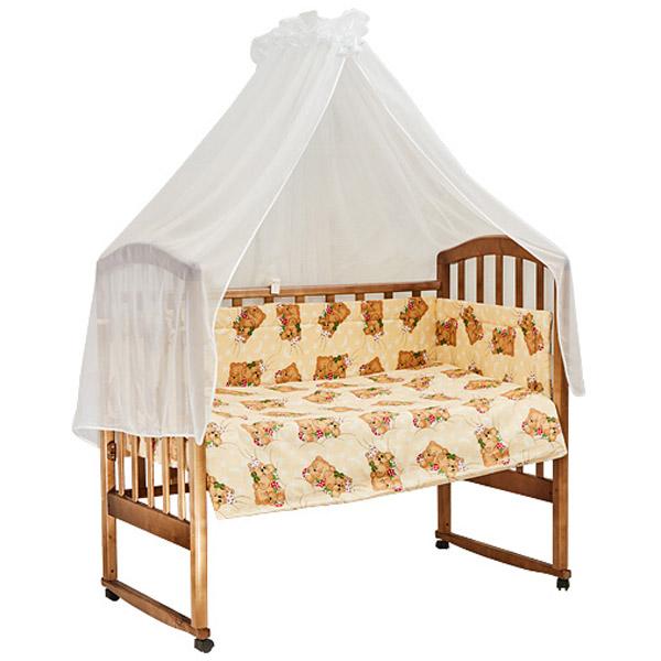 Комплект в кроватку Bambola 7 предметов Сони Бежевый<br>