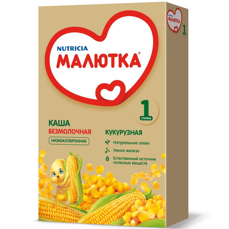 Каша Малютка безмолочная 200 гр Кукурузная (с 5 мес)<br>
