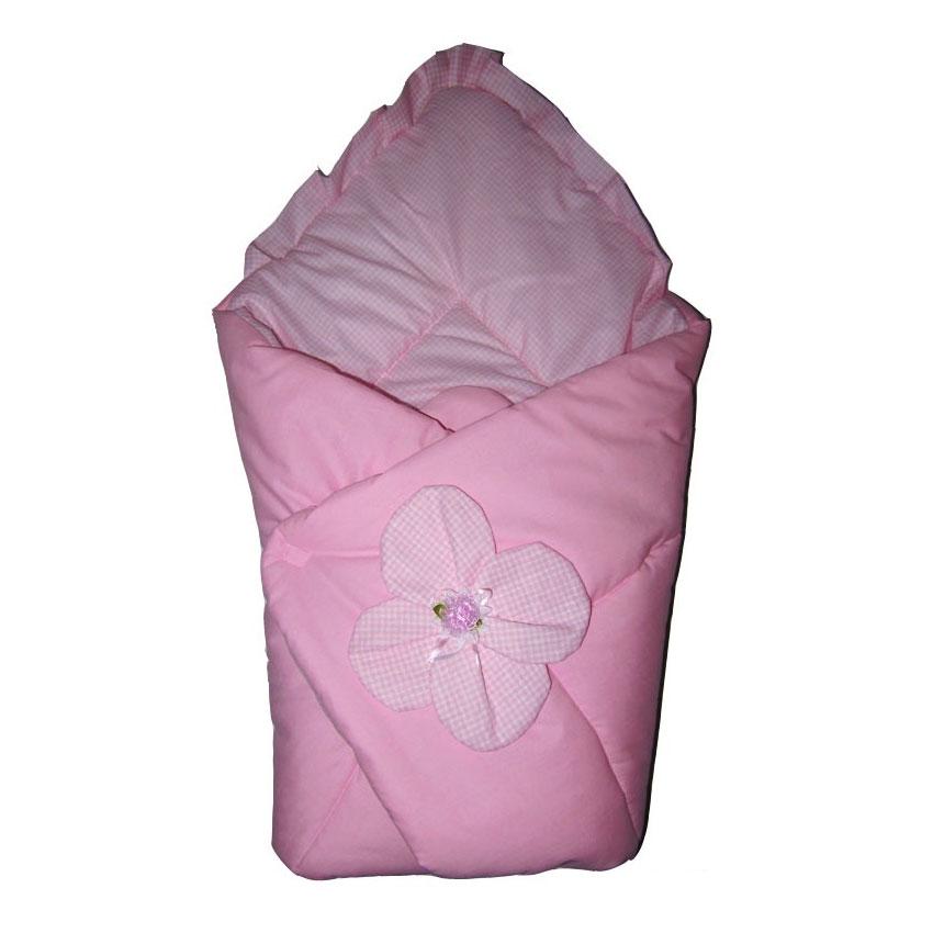 """Одеяло-конверт на выписку Арго """"Цветочек"""" 90*90 см цвет - Розовый"""