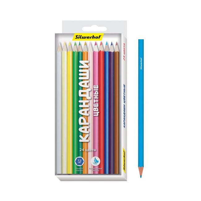 Карандаши цветные Silwerhof 24 цвета Народная коллекция<br>