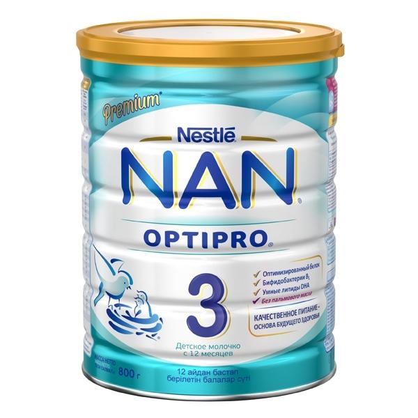 Детское молочко Nestle NAN Premium OPTIPRO 800 гр №3 (с 12 мес)<br>