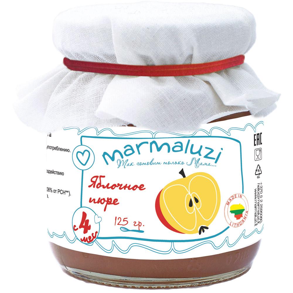 Пюре Marmaluzi фруктовое 125 гр Яблоко (с 4 мес)<br>