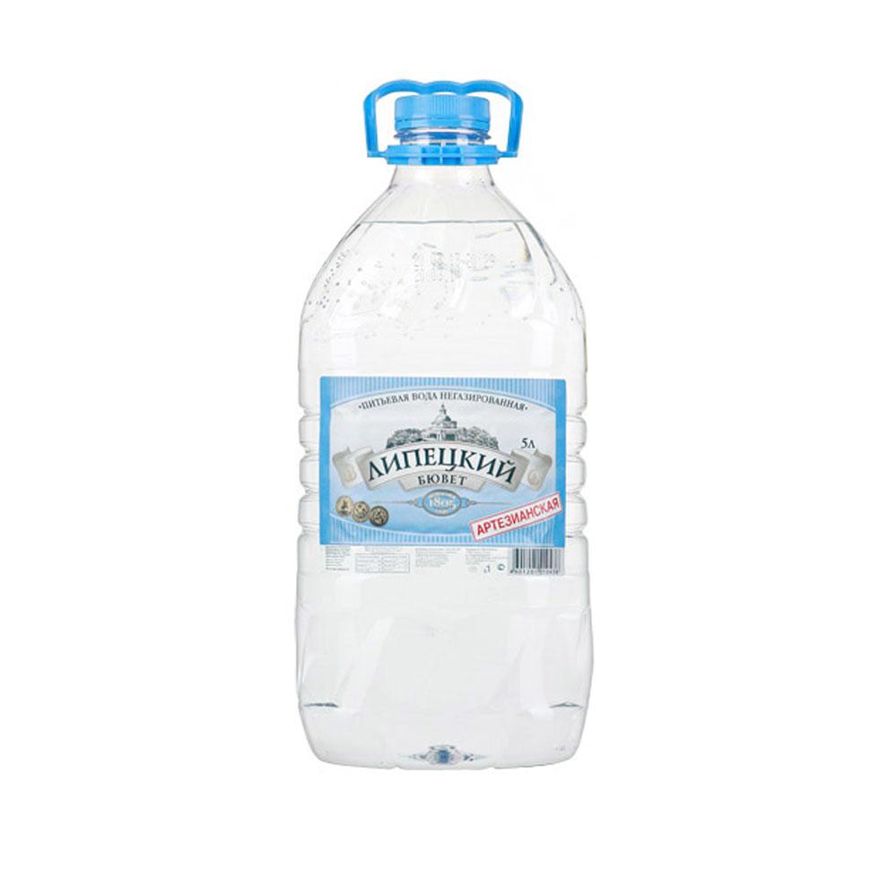 Купить Вода минеральная, питьевая Вода питьевая Липецкий Бювет 5 л. Артезианская, негазированная  Вода питьевая Липецкий Бювет 5 л. Артезианская, негазированная