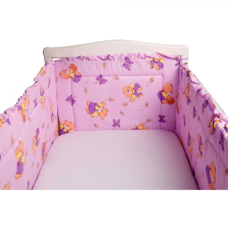 Бортик Bambola в кроватку За Медом Сиреневый<br>