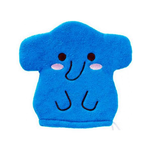 Рукавичка для мытья тела Kokubо Furocco Синий Слоненок<br>