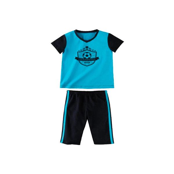 Комплект для мальчика Наша Мама (футболка, бриджи) рост 98 синий с голубым<br>