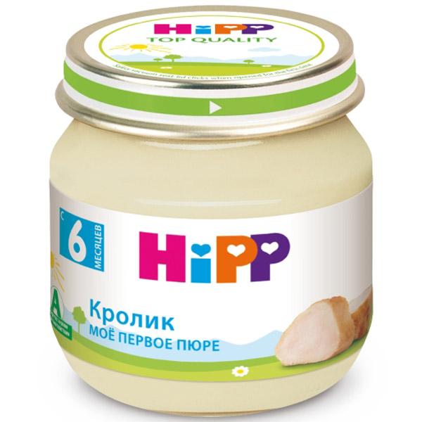 Пюре Hipp мясное 80 гр Кролик (с 6 мес)<br>