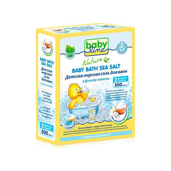Соль для ванн Babyline Nature детская натуральная 500гр<br>