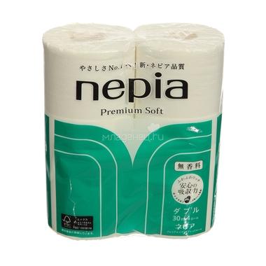 Туалетная бумага Nepia Premium Soft (2 сл) без аромата 4 рулона