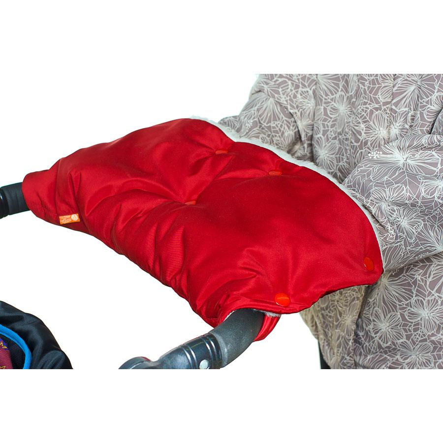 Муфта для коляски Чудо Чадо для защиты рук от холода на кнопках Вишневый<br>
