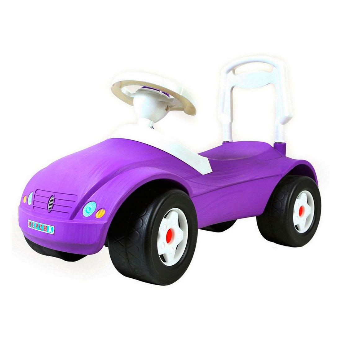 Каталка-автомобиль RT Мерсик ОР016 с клаксоном Фиолетовая<br>