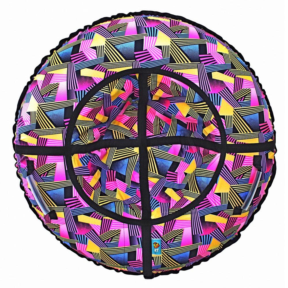 Тюбинг RT Ленты разноцветные полосатые 118 см<br>