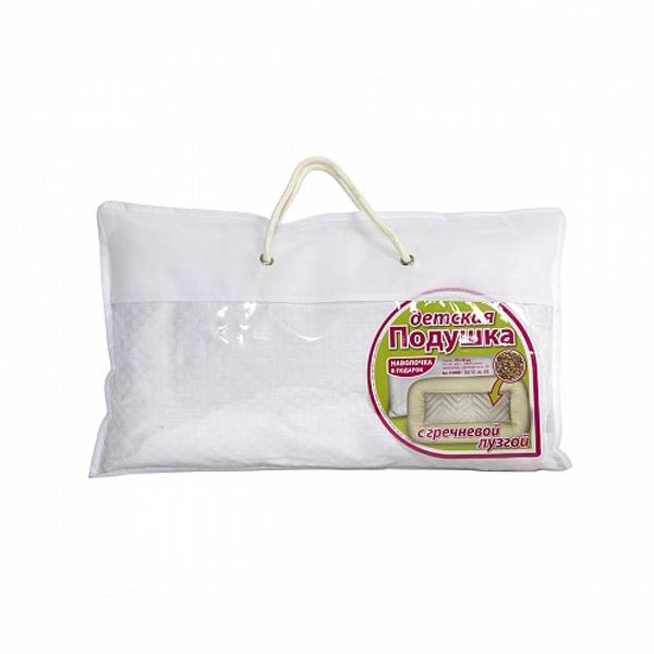 Подушка Baby Nice с наполнителем из гречневой лузги Со съемным чехлом из сатина 22х40<br>