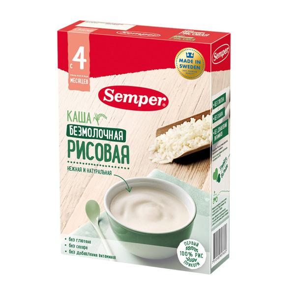 Каша Semper безмолочная 180 гр Рисовая (с 4 мес)<br>