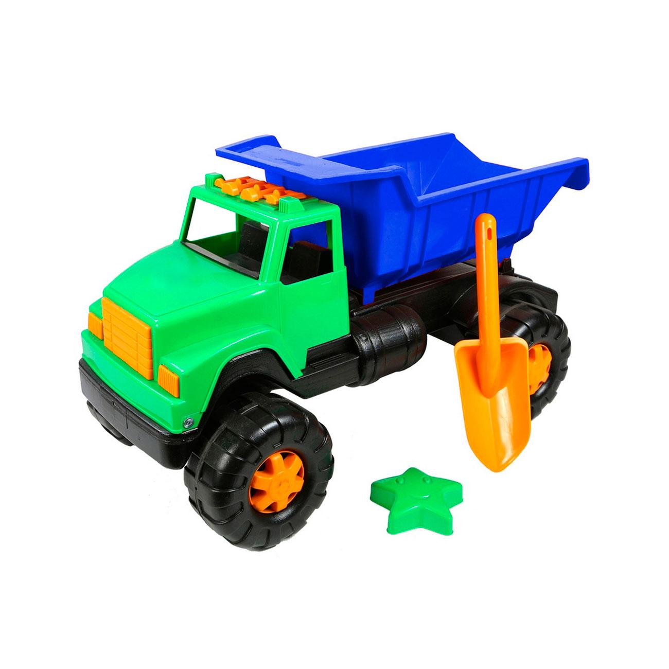 Автомобиль RT ОР191Интер BIG Цветной лопата и пасочка Синий с зеленым<br>