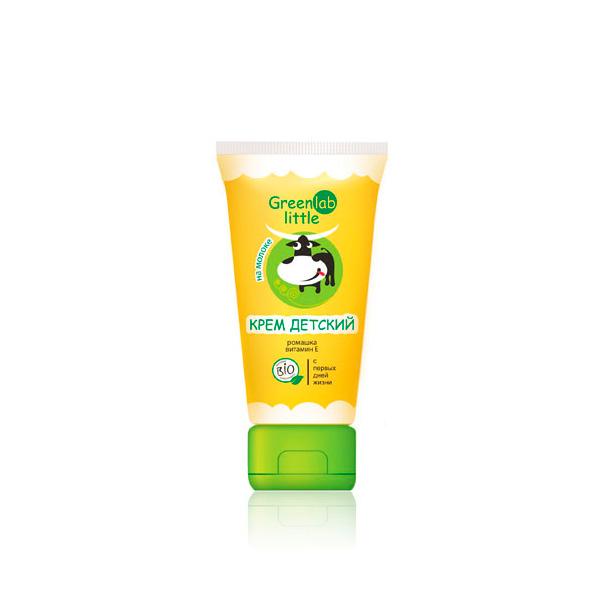 Крем детский Greenlab Little 100 мл на молоке с ромашкой и витамином E