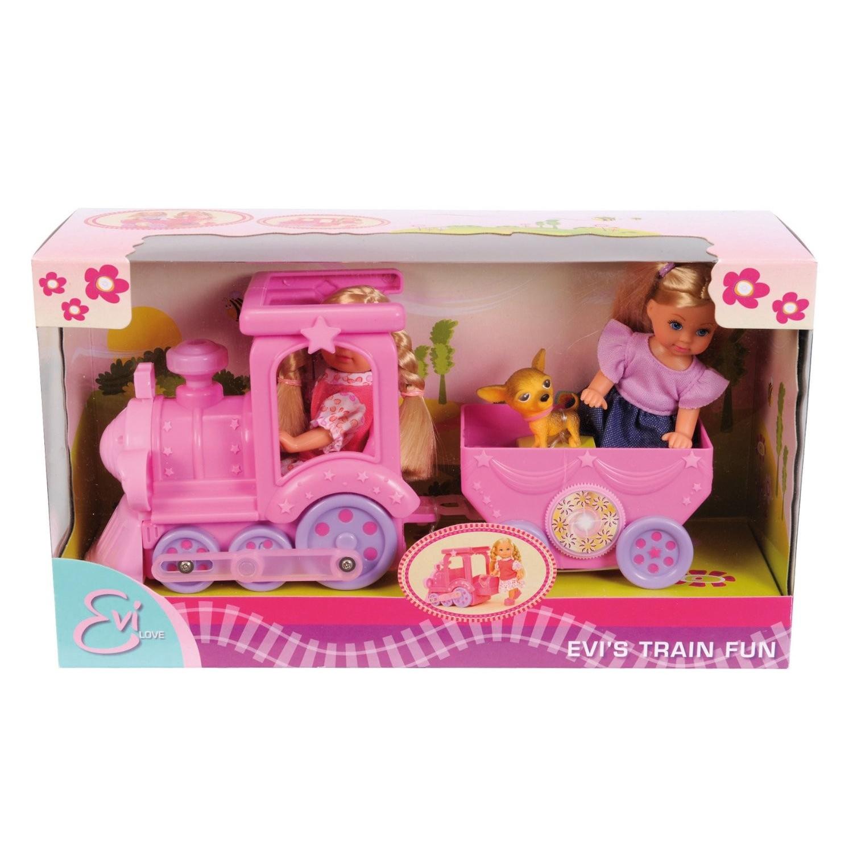 Игровой набор Simba Кукла Evi + поезд с 3 лет.<br>