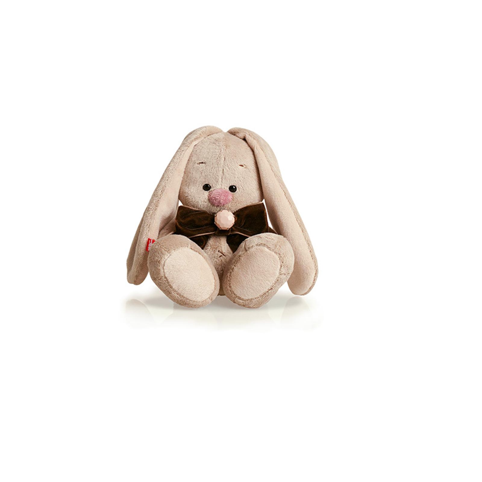 Мягкая игрушка Зайка Ми с коричневым бантом 15 см