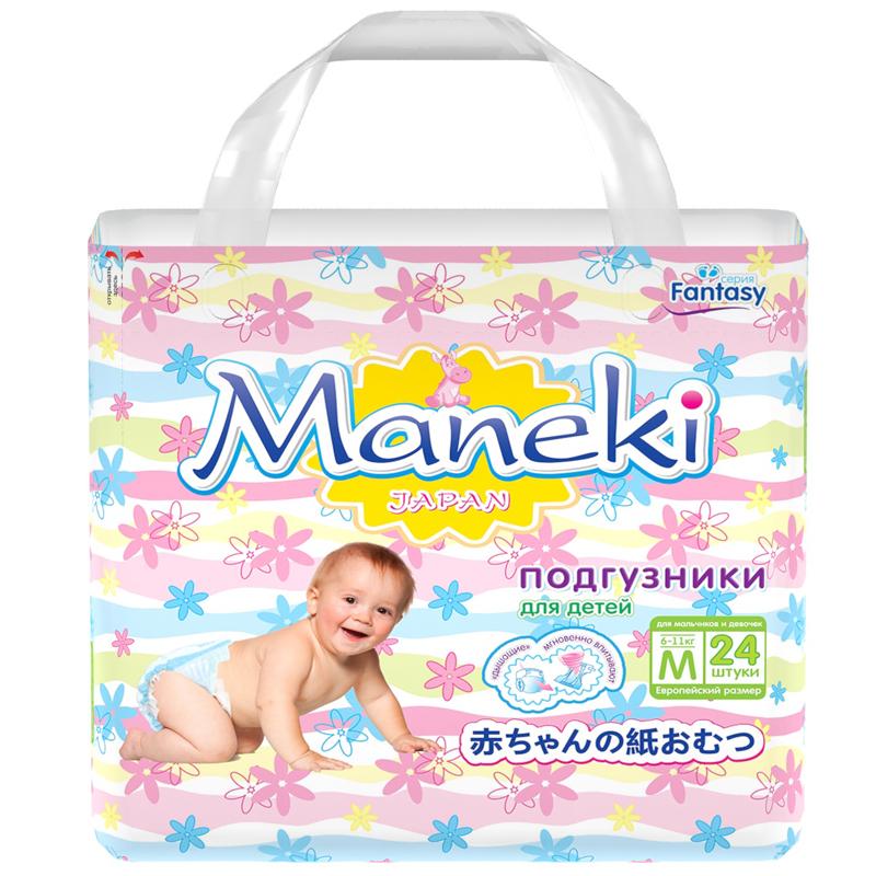 Подгузники Maneki Fantasy Mini 6-11 кг (24 шт) Размер M