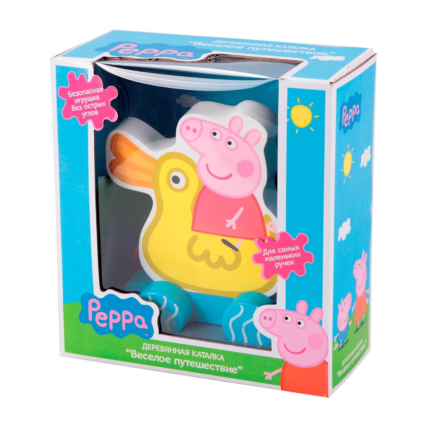 Игровой набор Peppa Pig Каталка Пеппа на уточке (дерево)<br>