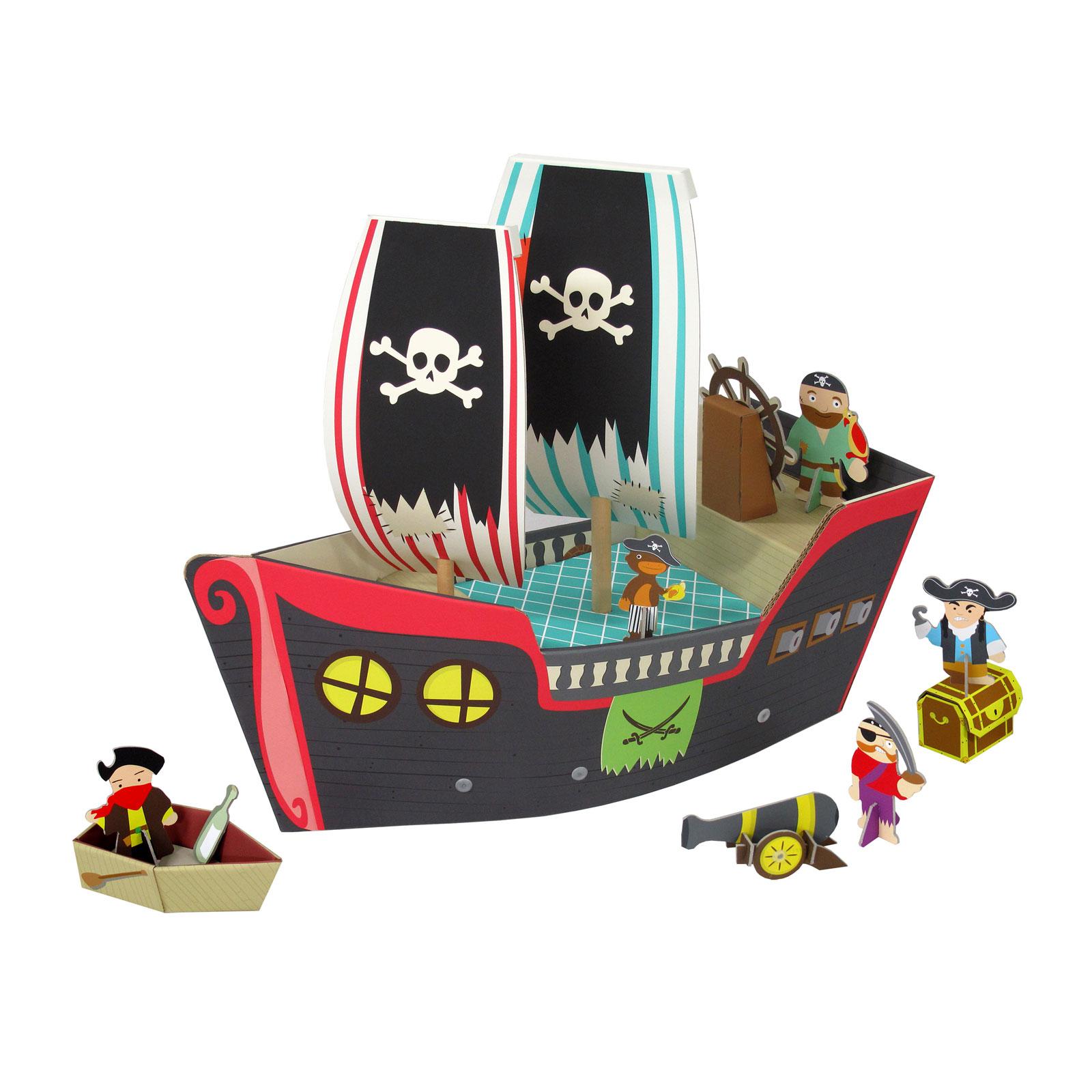 Игрушка из картона Krooom Пиратский корабль Купер Арт. k-307<br>