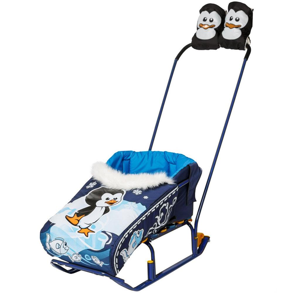 Комплект RT матрасик и варежки Пингвиненок Синий<br>