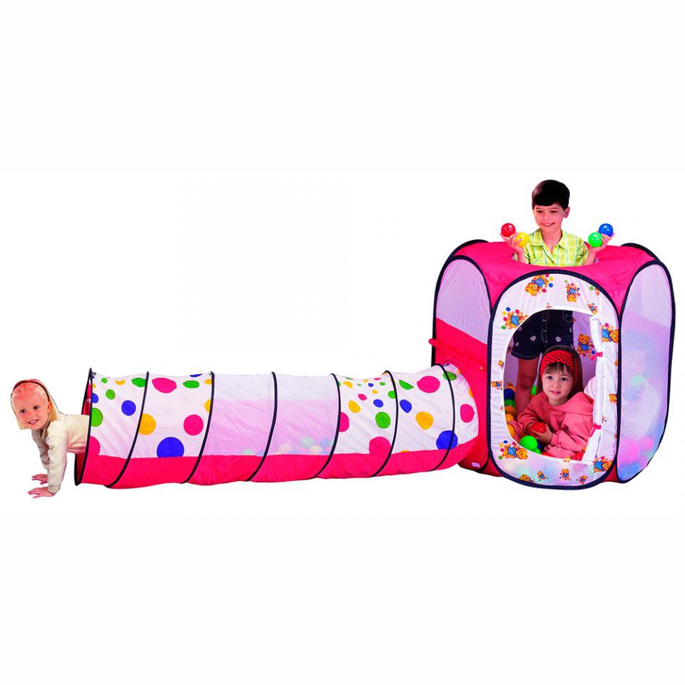Игровой Дом Calida Шестигранник с туннелем + 100 шаров<br>