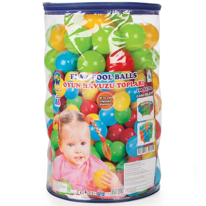 Шары Pilsan в сухой бассейн 100 штук 7 см в пакете-сумке<br>