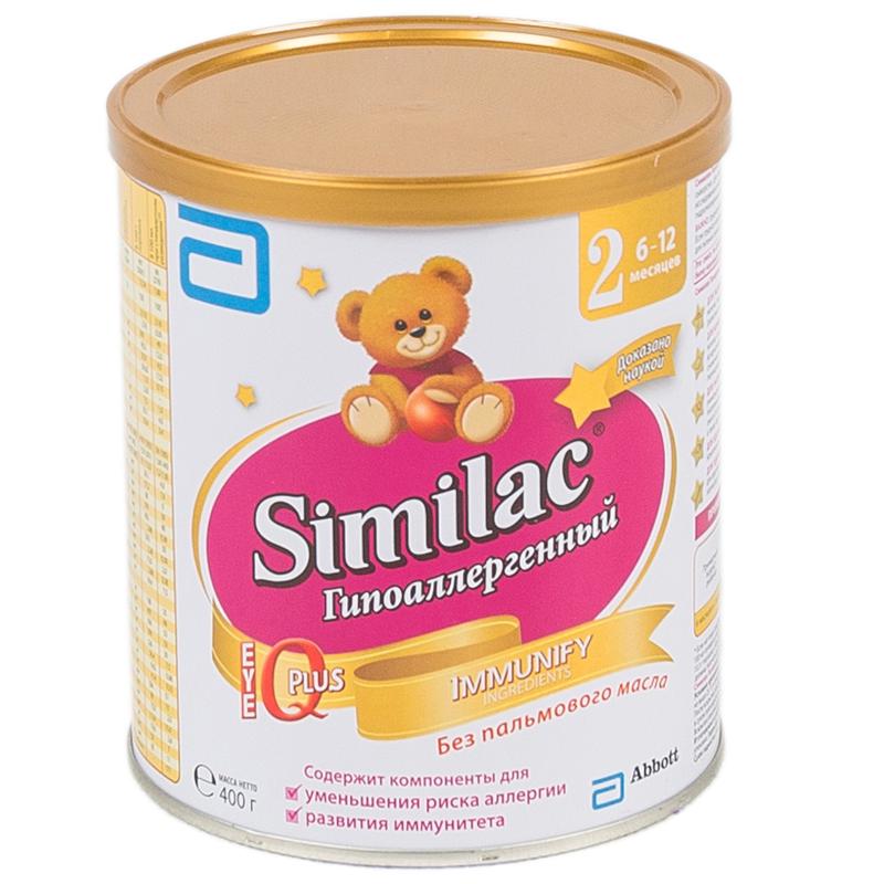 Заменитель Similac Гипоаллергенный 400 гр №2 (с 6 мес)