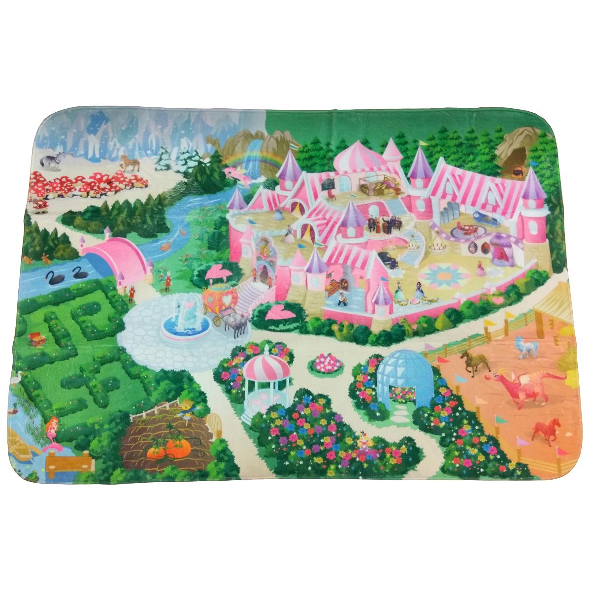 Детский игровой коврик Teplokid ультрамягкий Замок 130х180 см<br>