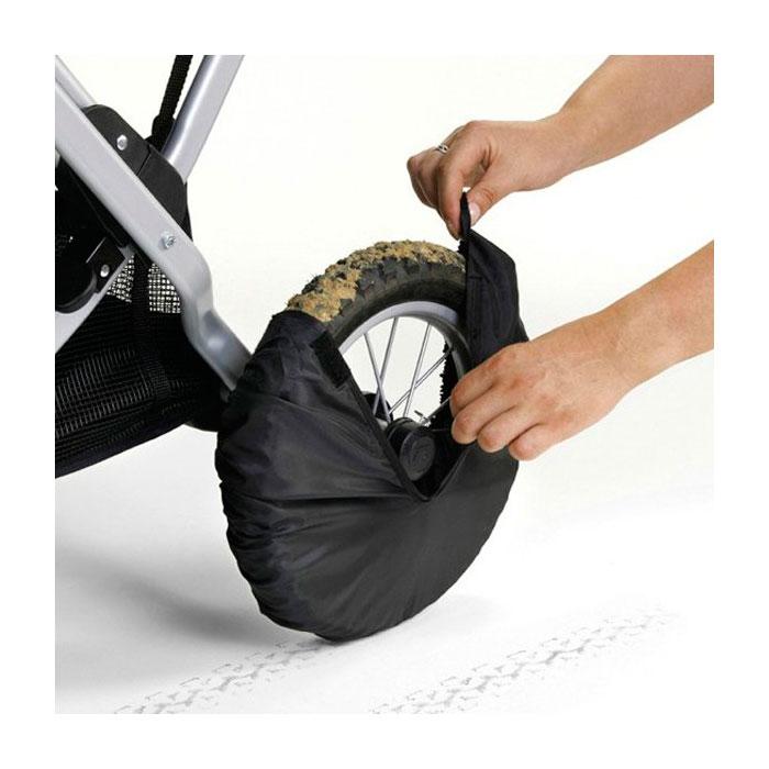 Чехлы на колеса Bebeсar черные 4 шт в сумочке на липучке<br>