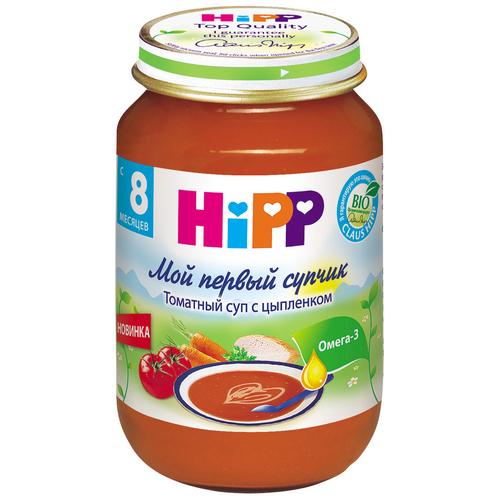 Пюре Hipp Мой первый супчик 190 гр Томатный суп с цыпленком (с 8 мес)