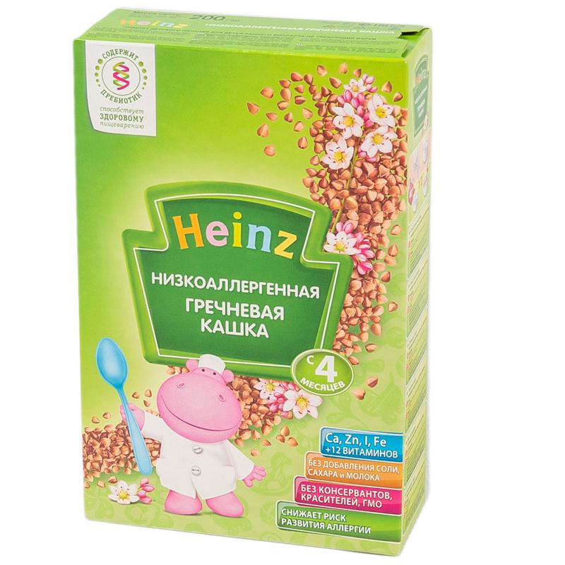 Каша Heinz низкоаллергенная безмолочная 200 гр Гречневая (с 4 мес)<br>