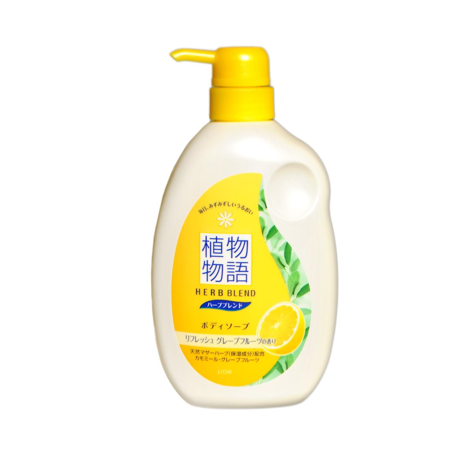 Жидкое мыло для тела Lion HERB BLEND увлажняющее С экстрактами ромашки и грейпфрута 580 мл<br>