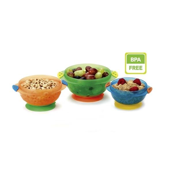 Набор детских тарелок Munchkin 3 шт. На присосках (с 6 мес)<br>