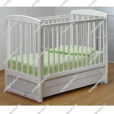 Кроватка Гандылян Полина маятник Белая