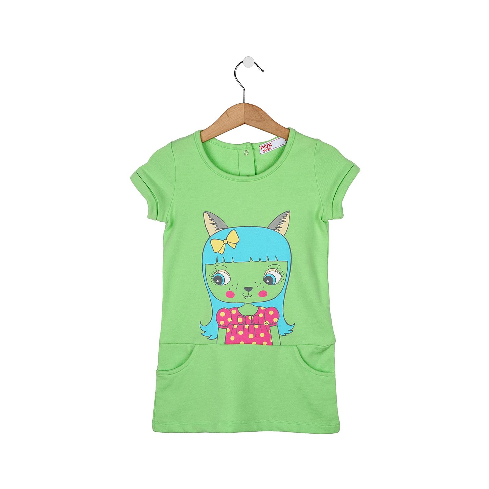Платье для девочек FOX, цвет мятный 6-12 мес.