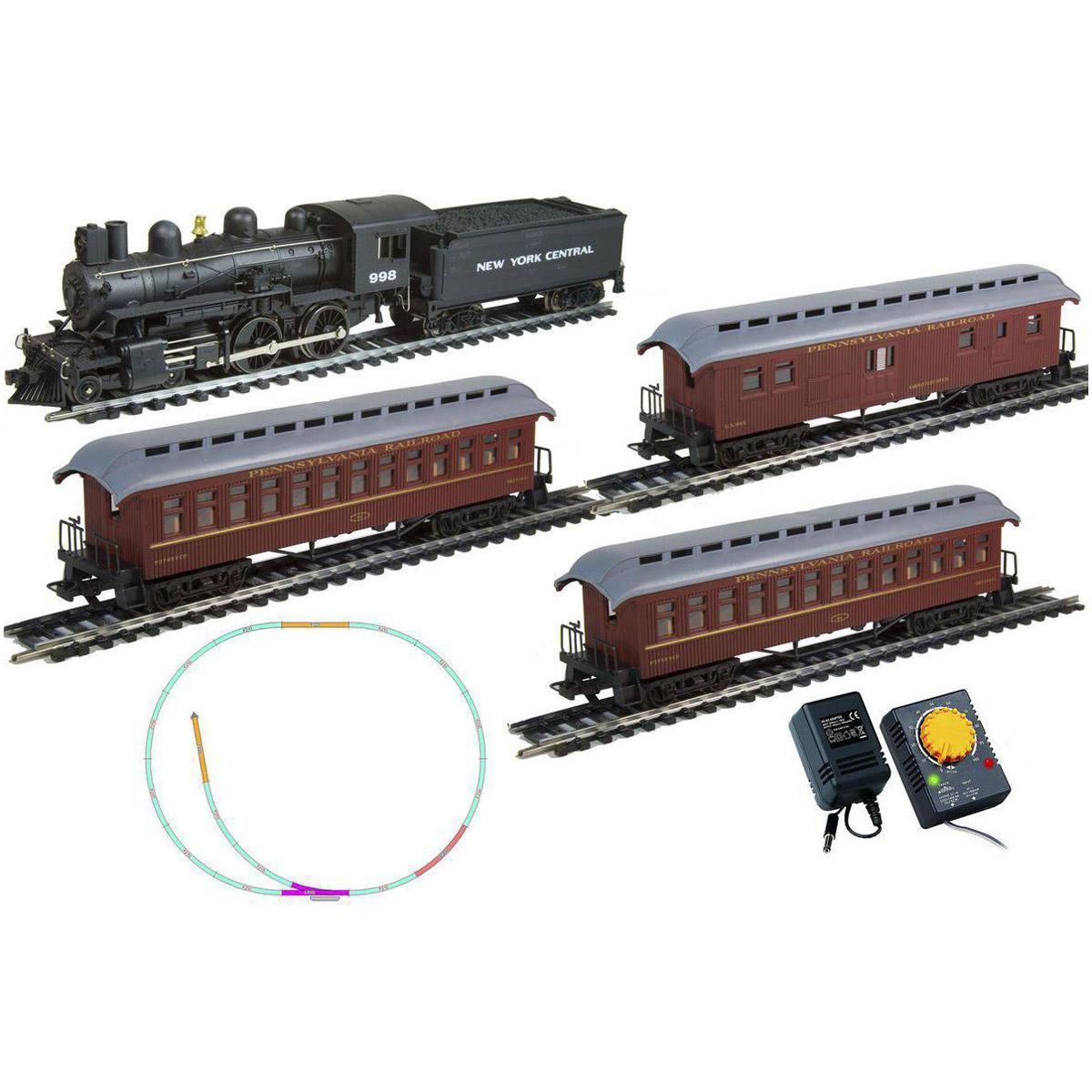 Стартовый набор Mehano Hobby Pan American   (4-4-0)   с 3-мя вагонами<br>