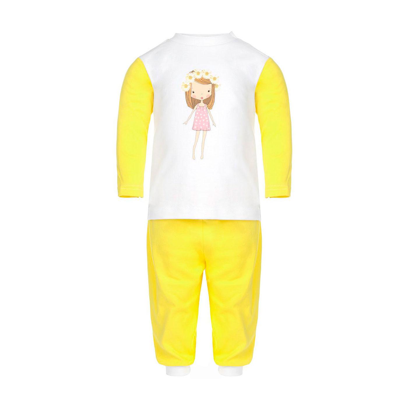Пижама Котмаркот Ромашки рост 80 желтый<br>