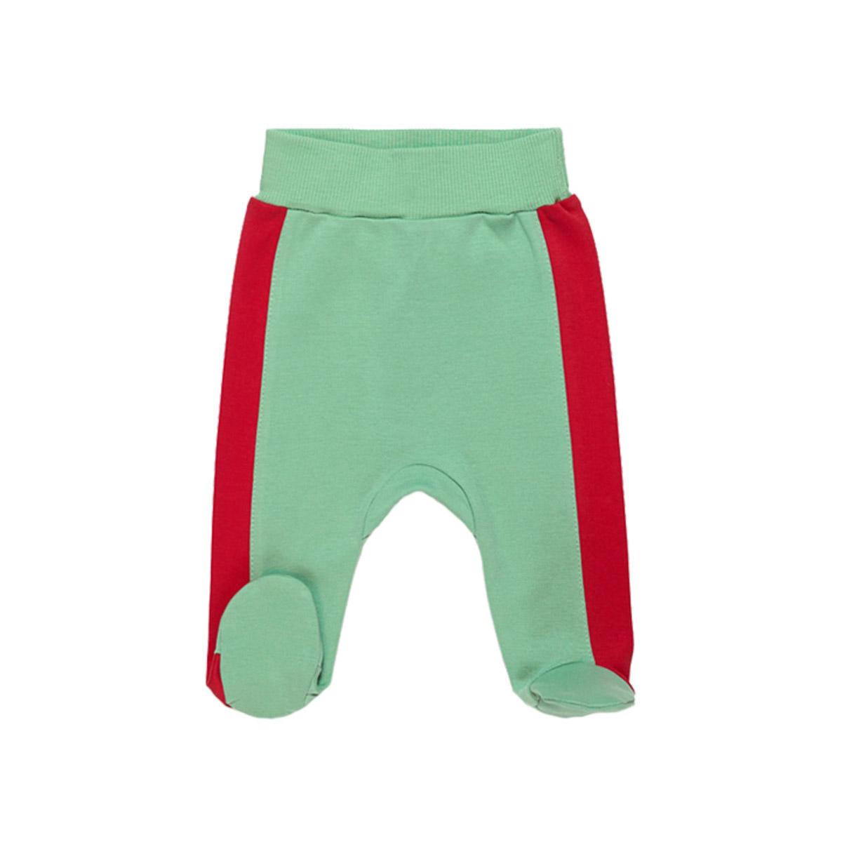 Ползунки с ножками Ёмаё Кони в яблоках (26-236) рост 62 светло зеленый<br>