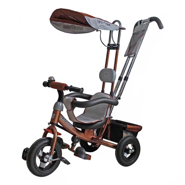Велосипед трехколесный Mini Trike с надувными колесами 108 Коричневый<br>