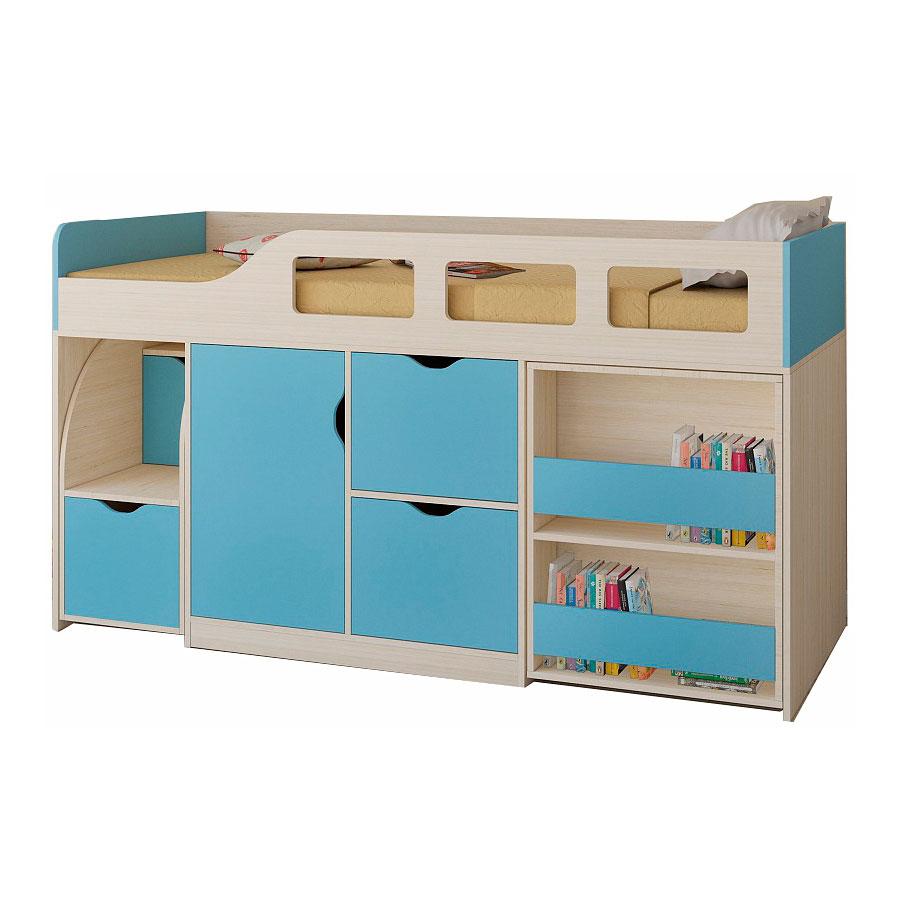 Набор мебели РВ-Мебель Астра 8 Дуб молочный/Голубой<br>