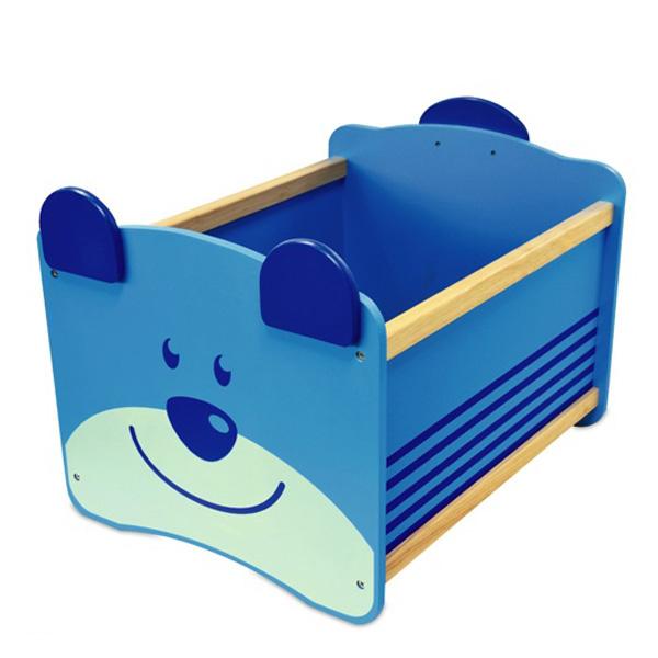Ящик для игрушек I`m Toy Медведь синий<br>
