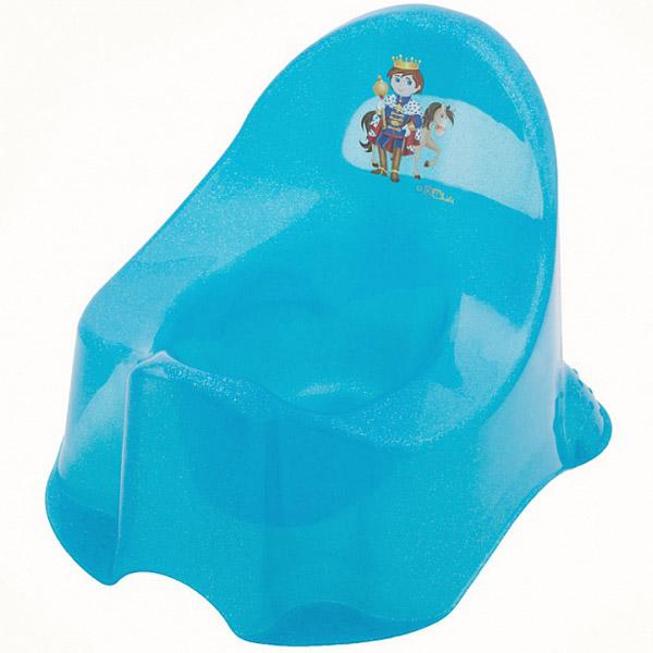 Горшок детский ОКТ Комфорт Принц цвет - голубой (прозрачный пластик)<br>