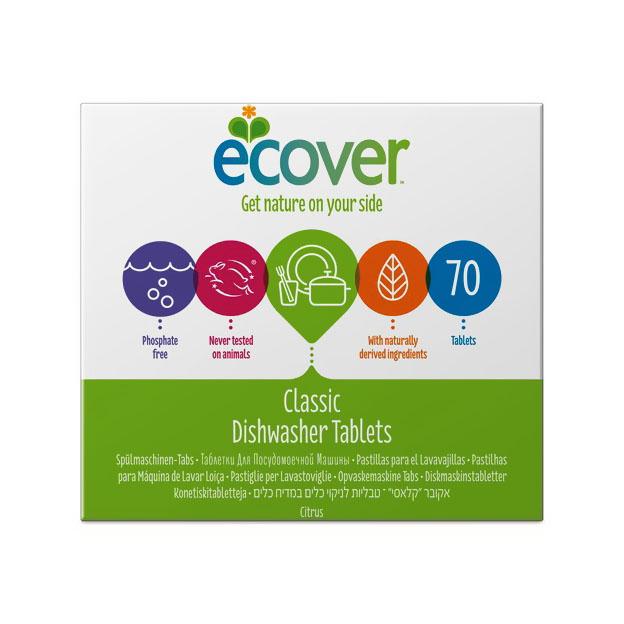Таблетки Ecover 1400 гр. Для посудомоечной машины 70 шт.<br>