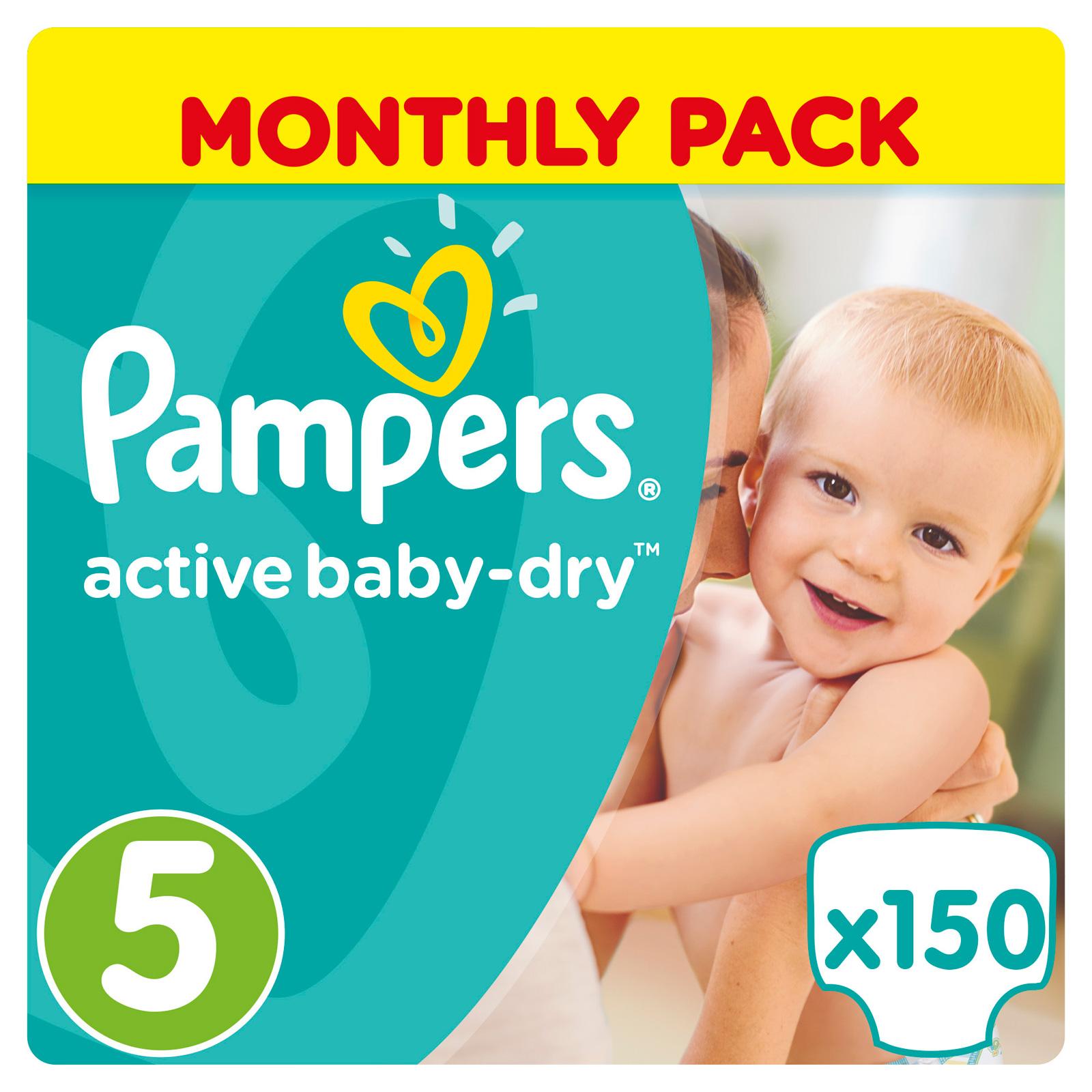 Подгузники Pampers Active Baby Junior 11-18 кг (150 шт) Размер 5<br>
